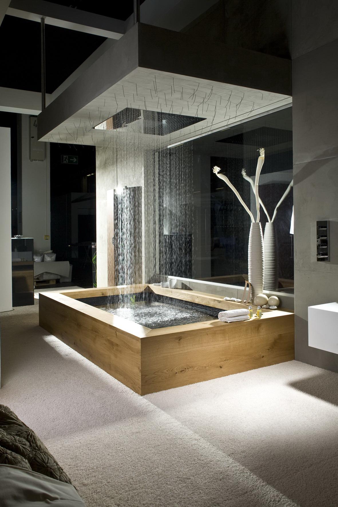 Luxus Badewanne Mit Dusche : Rain Shower Designs