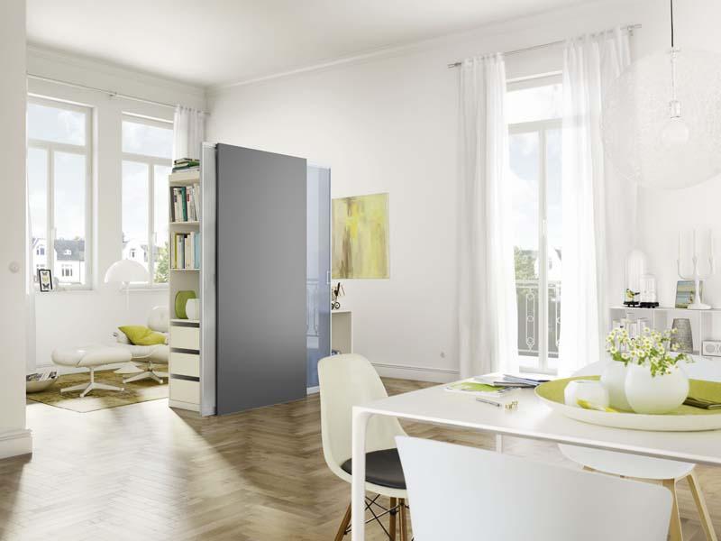 Wohnraum gewinnen mit schranksystemen for Puertas para separar ambientes