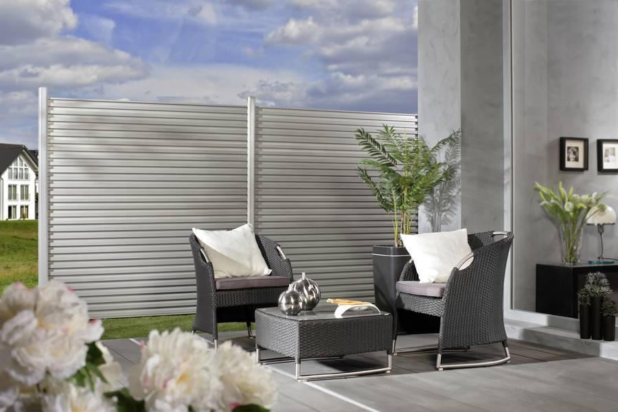 Outdoortrend: Sichtschutzelemente aus Aluminium