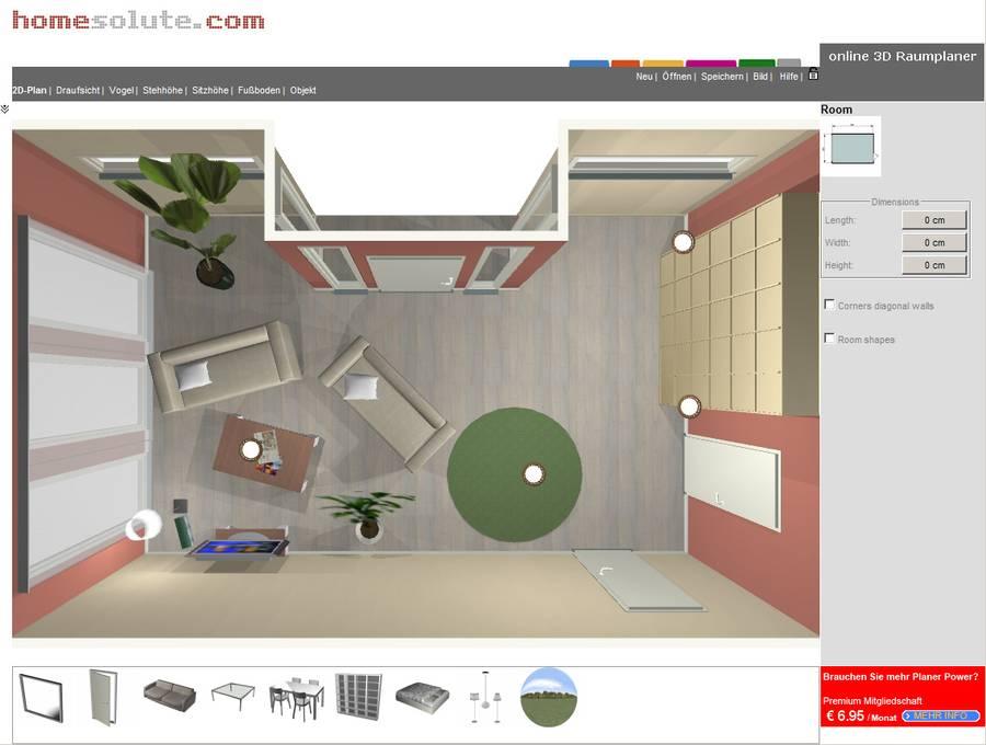 Kostenloser raumplaner im internet for Wohnung einrichten 3d planer