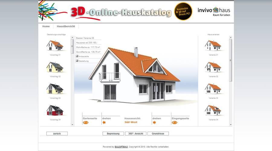 der invivo 3d online hauskatalog ist da kostenlos auf dem pc. Black Bedroom Furniture Sets. Home Design Ideas