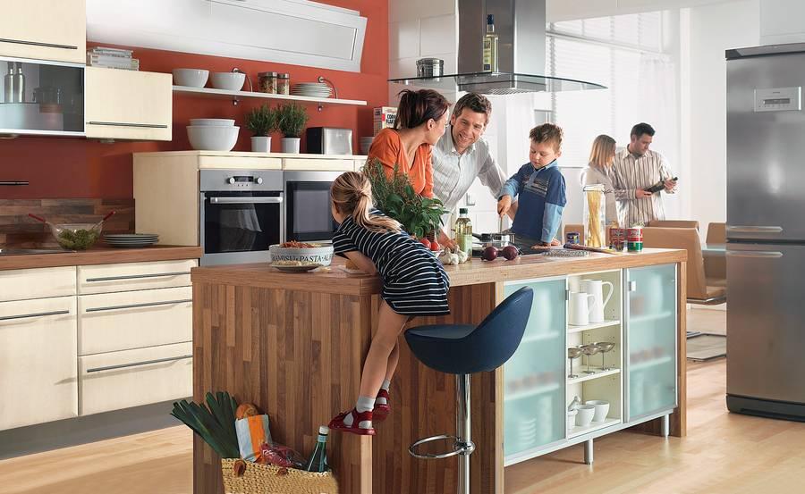 die k che als lebensmittelpunkt. Black Bedroom Furniture Sets. Home Design Ideas