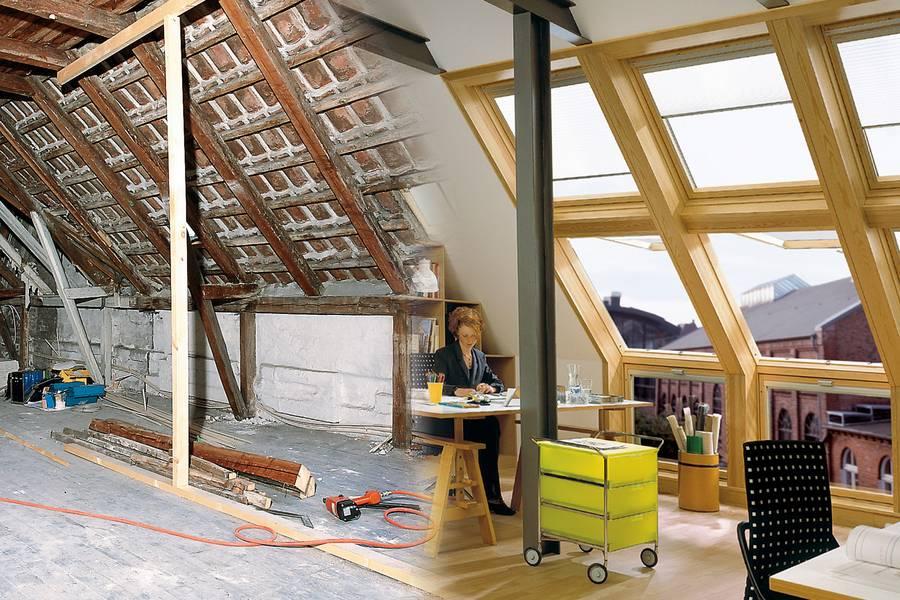 preiswerter zusatzwohnraum unterm dach. Black Bedroom Furniture Sets. Home Design Ideas