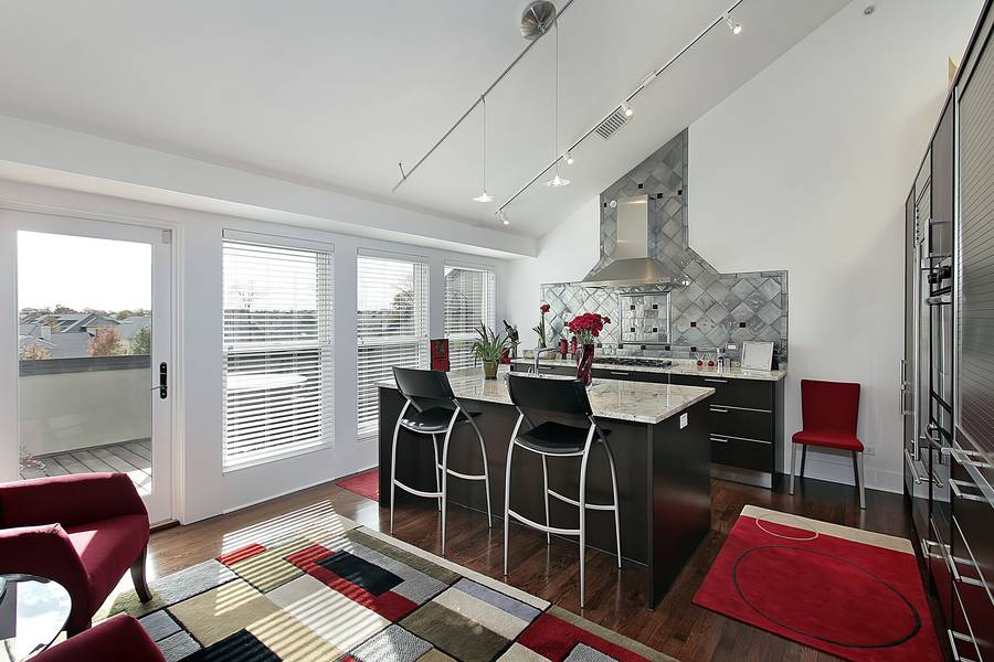 die k che in den wohnraum integrieren. Black Bedroom Furniture Sets. Home Design Ideas